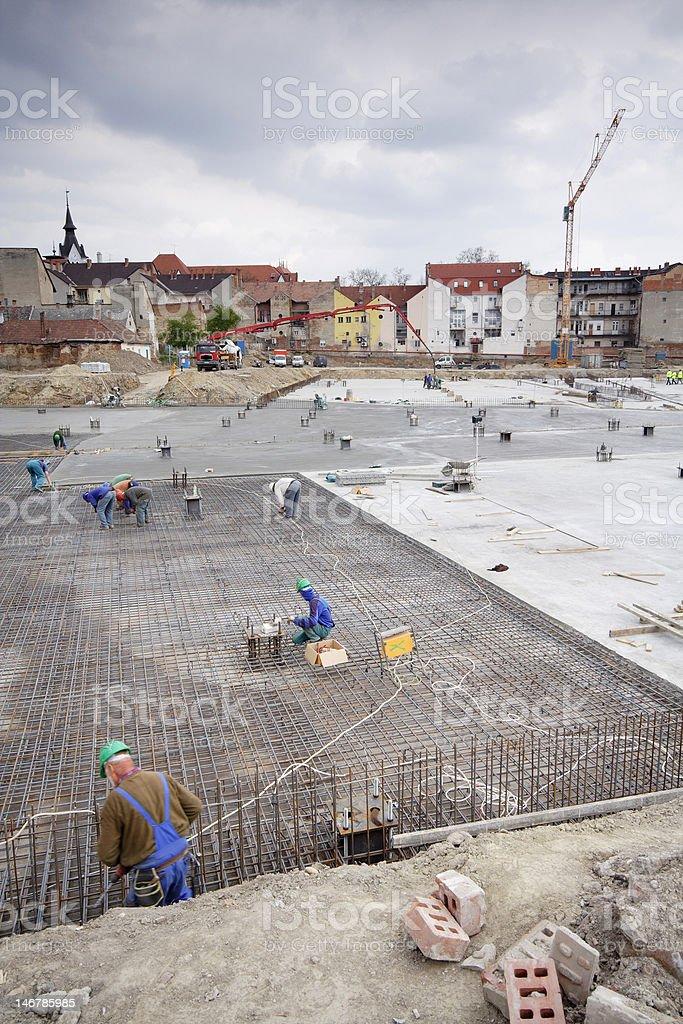 Construction area royalty-free stock photo