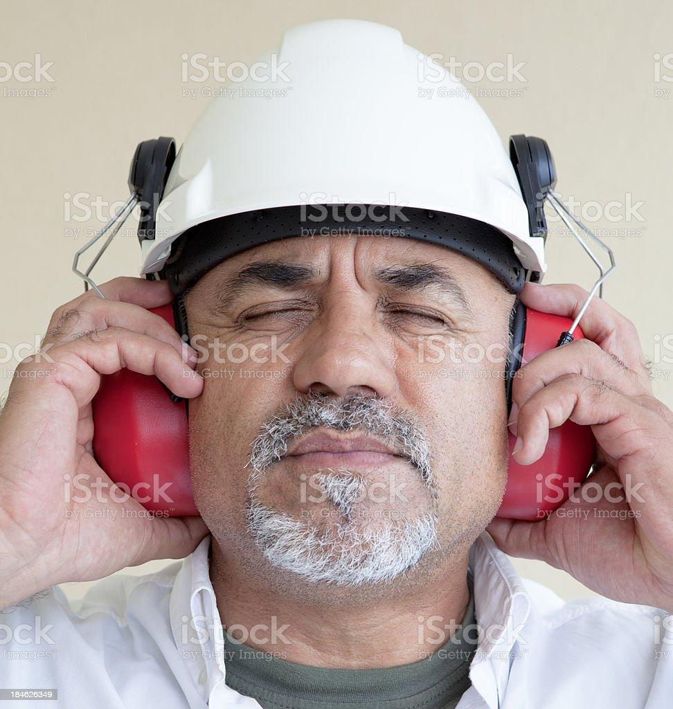 Construction area too loud stock photo