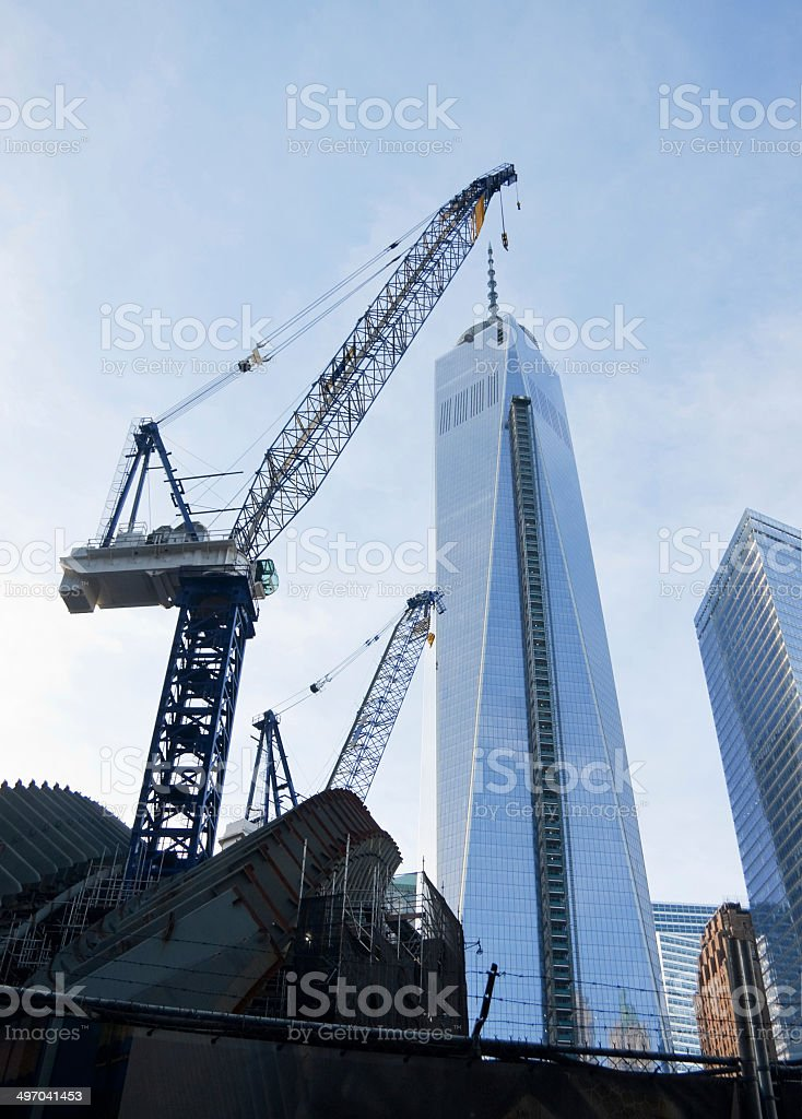 construction at the Freedom Tower New York royalty-free stock photo