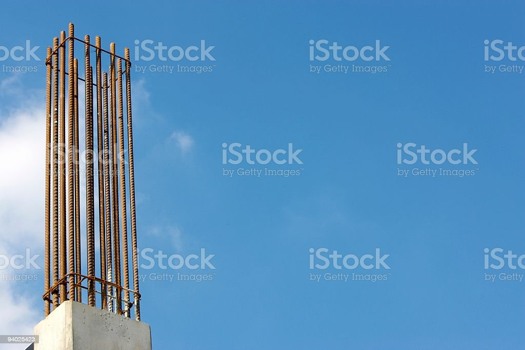 Construction Background - Rebar Cage stock photo