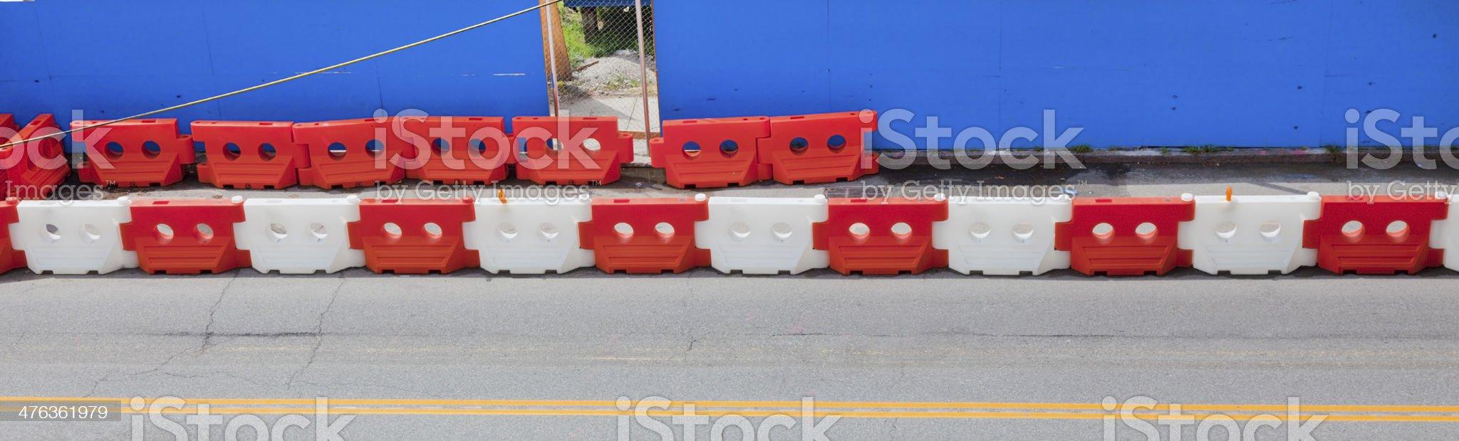 Construction Barricade royalty-free stock photo