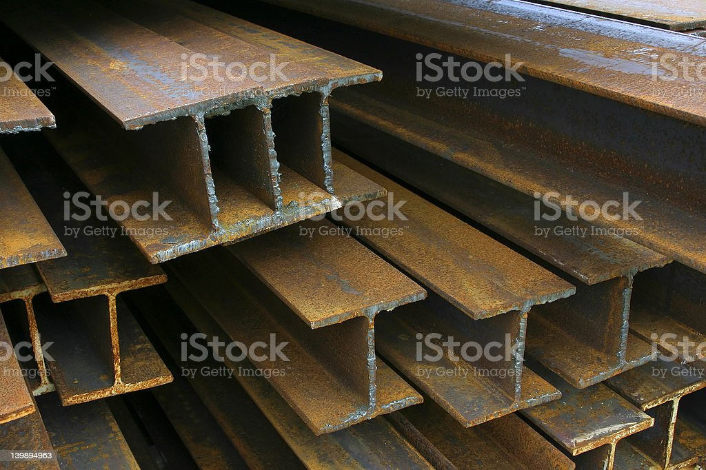 Construction Beams royalty-free stock photo