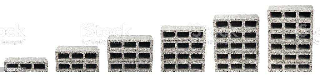 Construction Blocks Chart stock photo