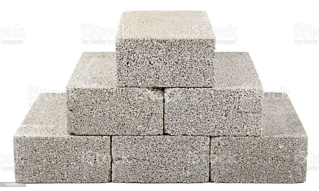 Construction Blocks Pyramid royalty-free stock photo