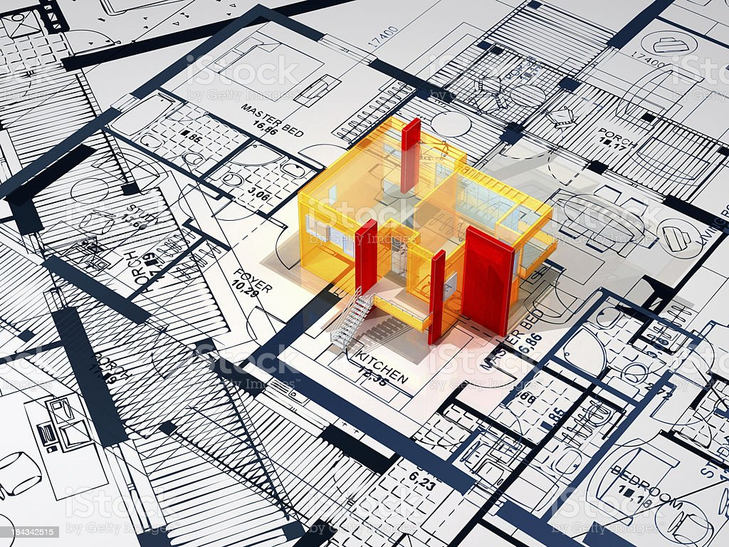 Construction Blueprint royalty-free stock photo