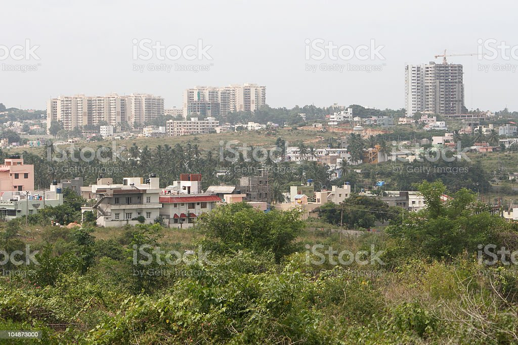 Construction boom in Bangalore, India stock photo
