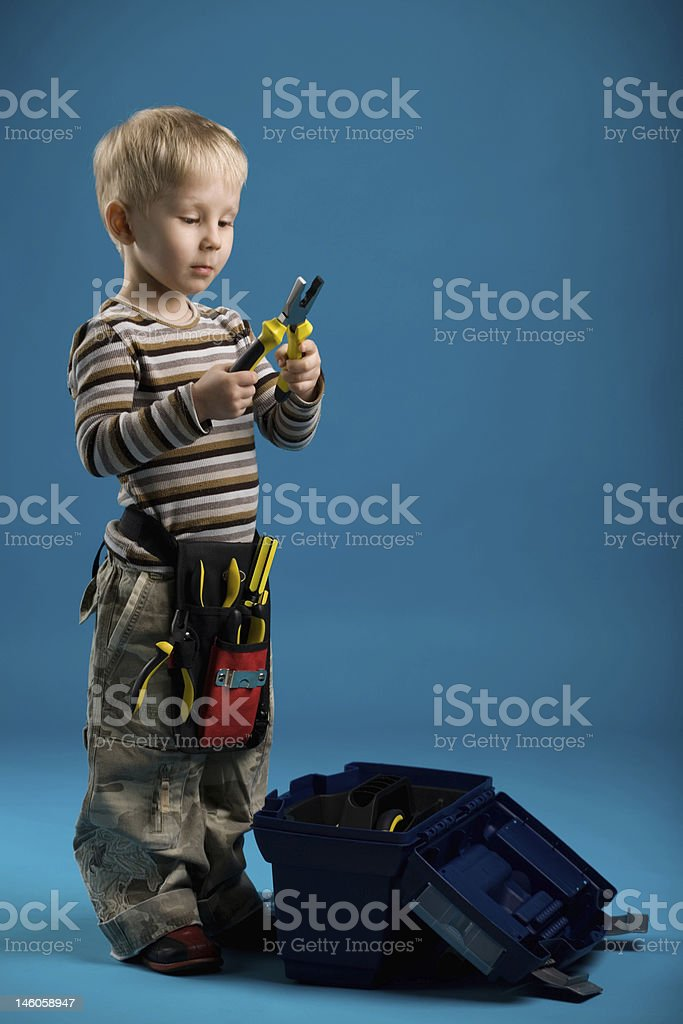 Construction boy royalty-free stock photo