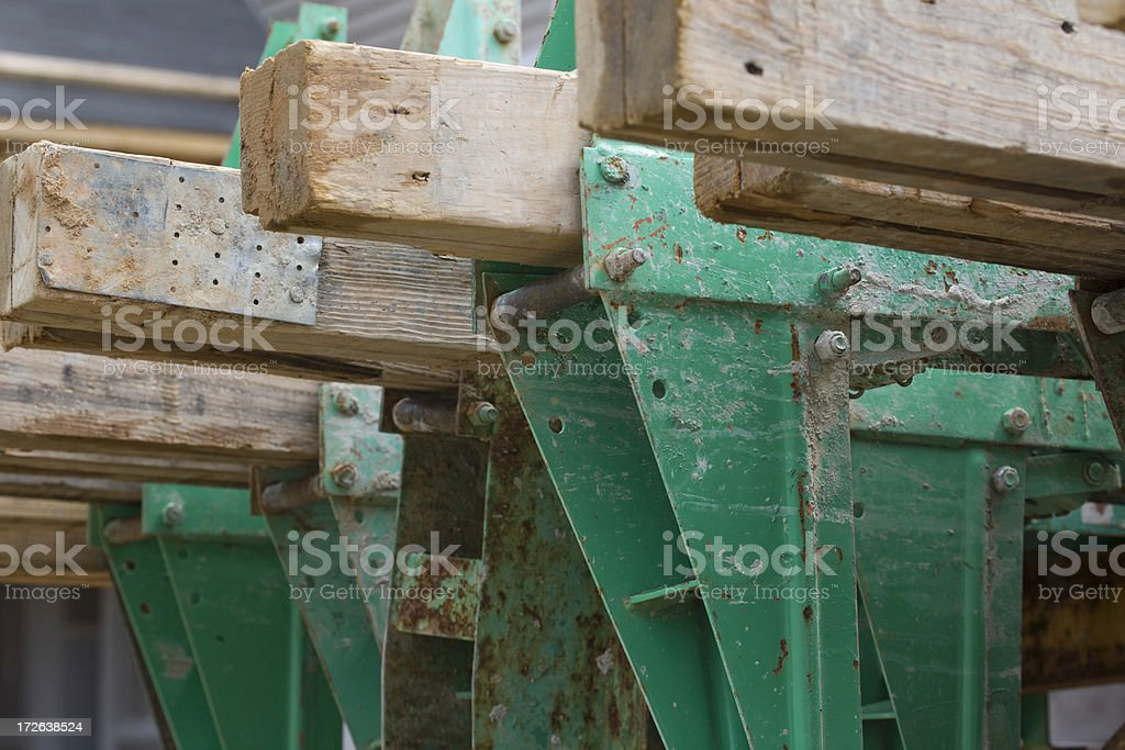 Construction braces royalty-free stock photo