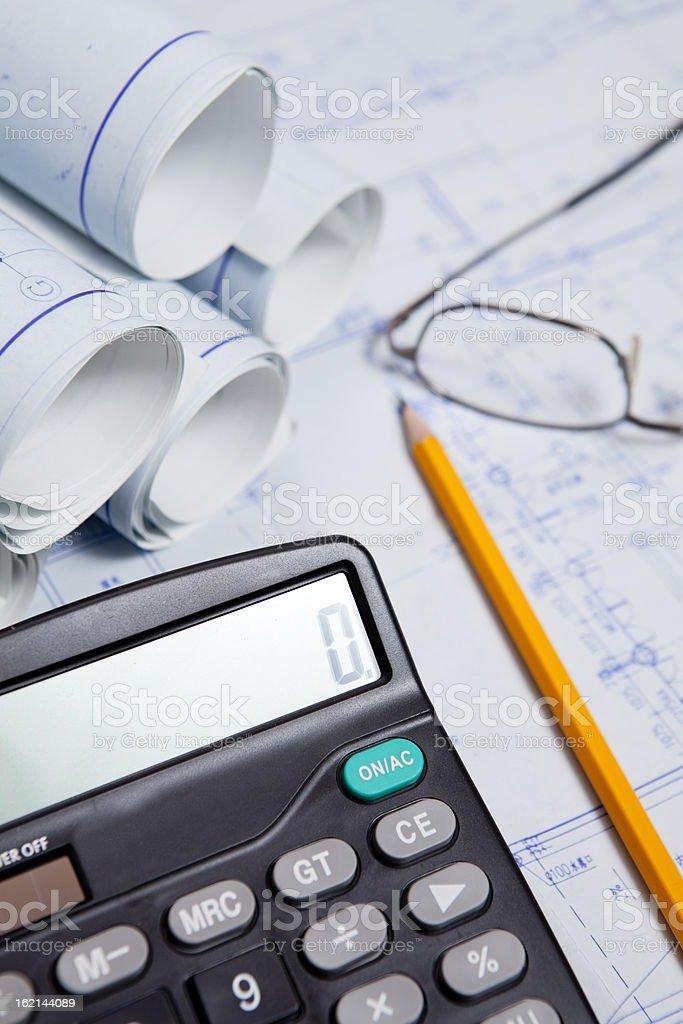 construction budget royalty-free stock photo