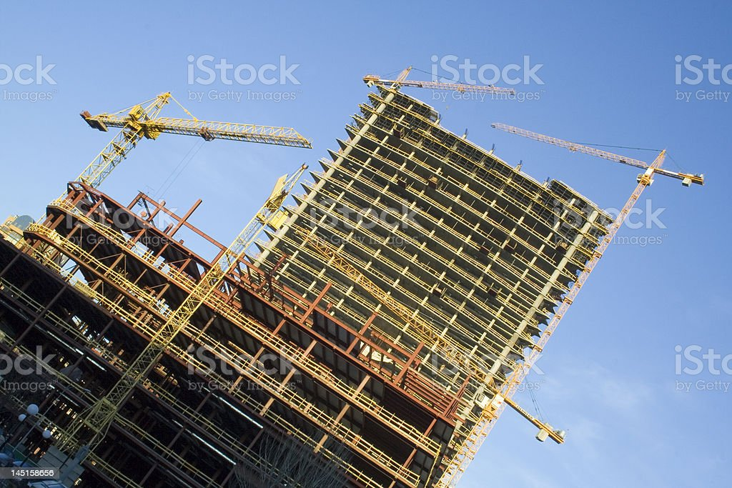 Construction building of urban architecture royalty-free stock photo