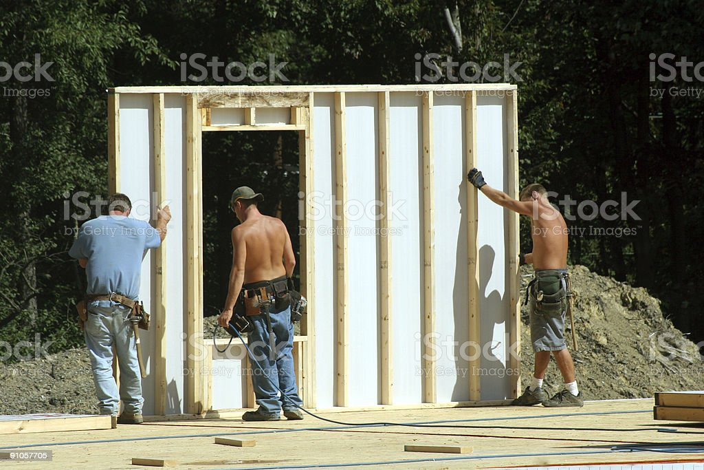 Construction - Building Wall royalty-free stock photo
