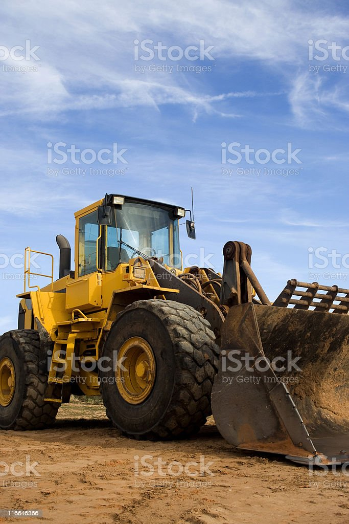 Construction Bulldozer royalty-free stock photo