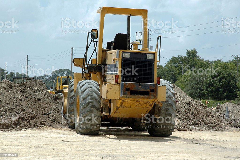 Construction - Bulldozer, Rear view stock photo