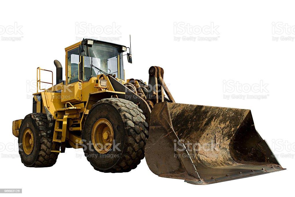 Construction Bulldozer Tractor Excavator royalty-free stock photo