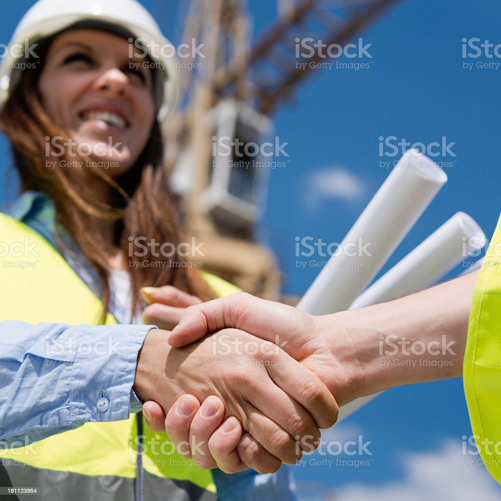 Construction business deal royalty-free stock photo