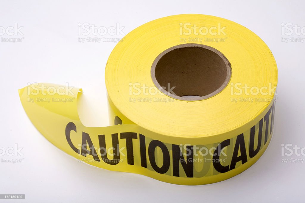 Construction: Caution Tape stock photo