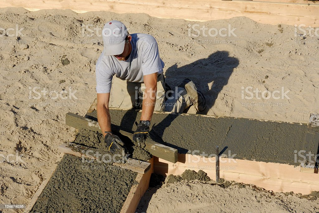 Construction - Cement Finish Work royalty-free stock photo