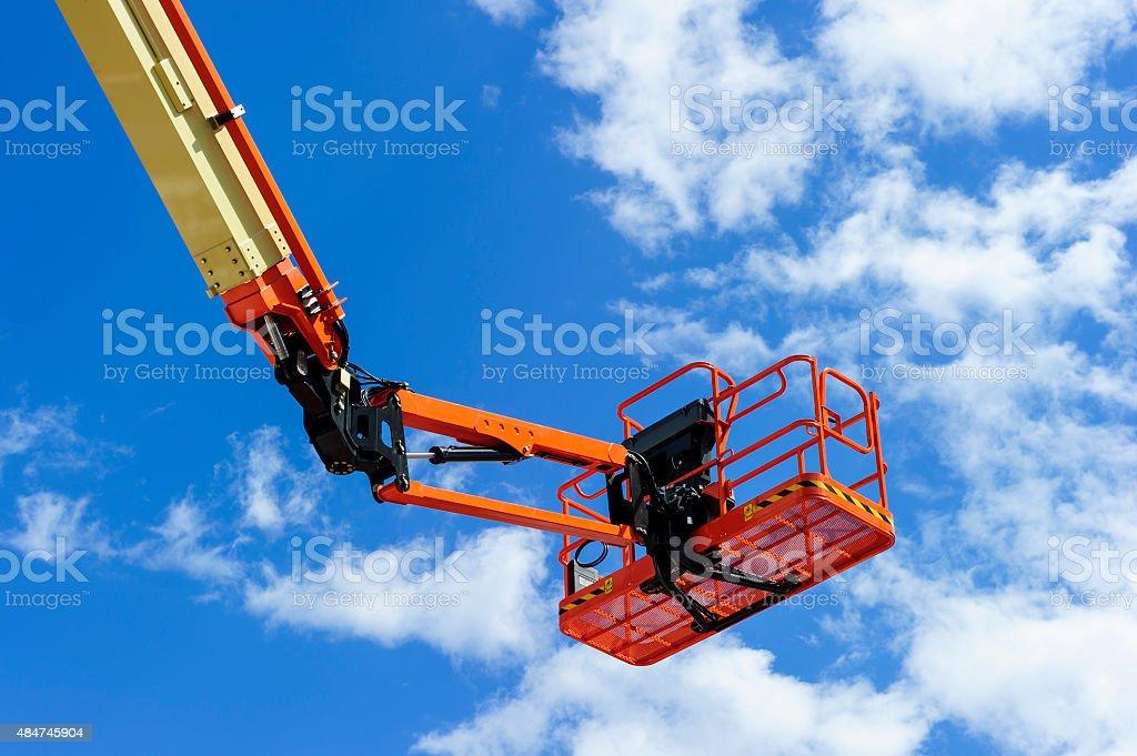 Construction cherry picker stock photo