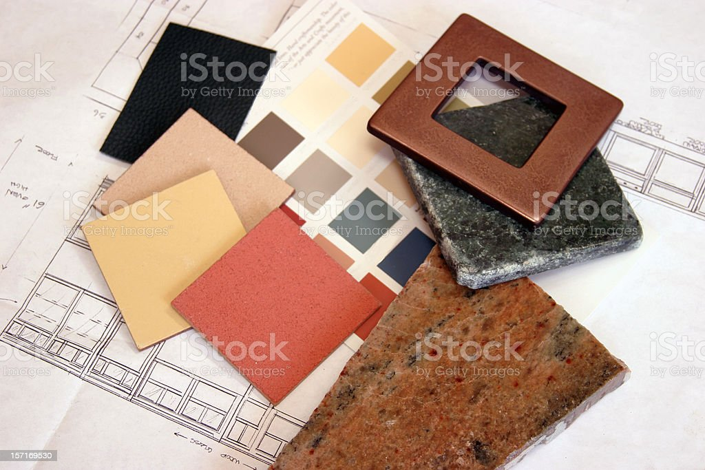 Construction - Color Samples 1 royalty-free stock photo