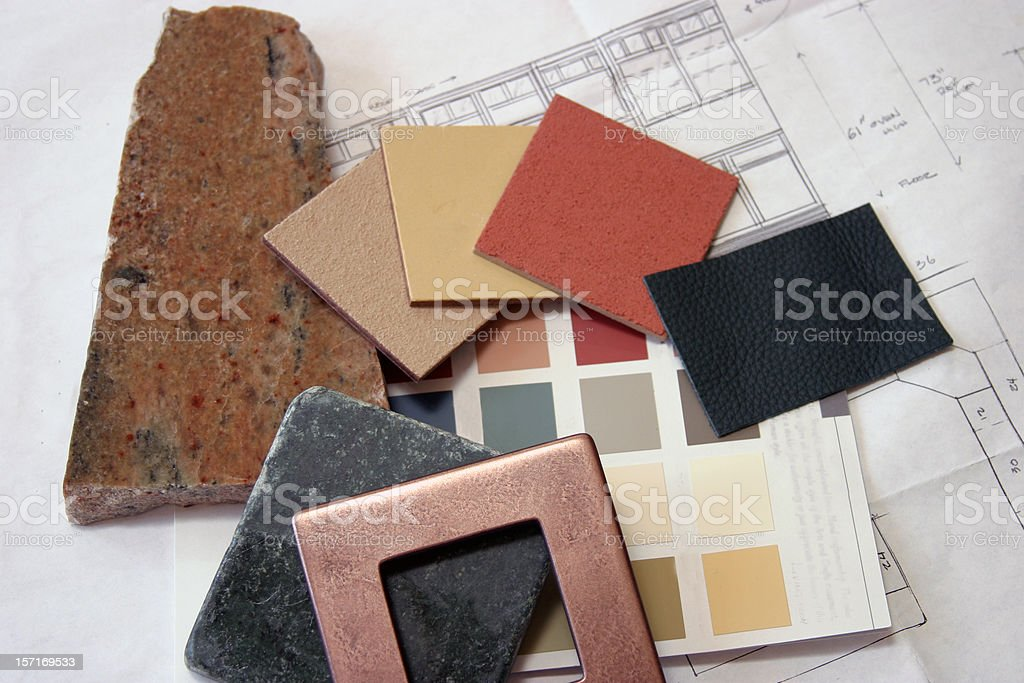 Construction - Color Samples 4 royalty-free stock photo