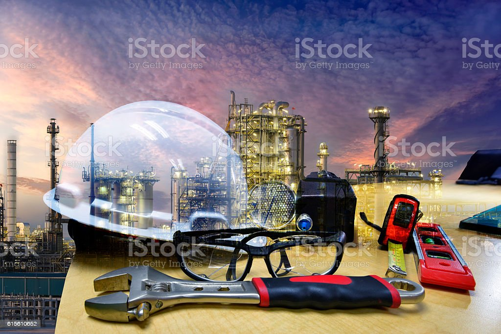 Construction Concept at construction site stock photo