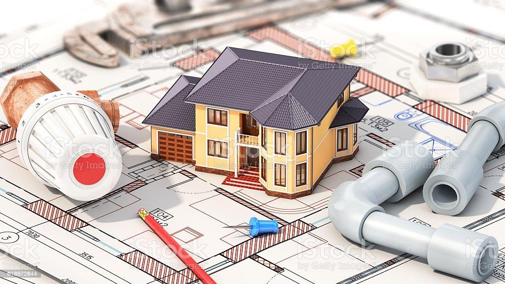 Construction concept. stock photo