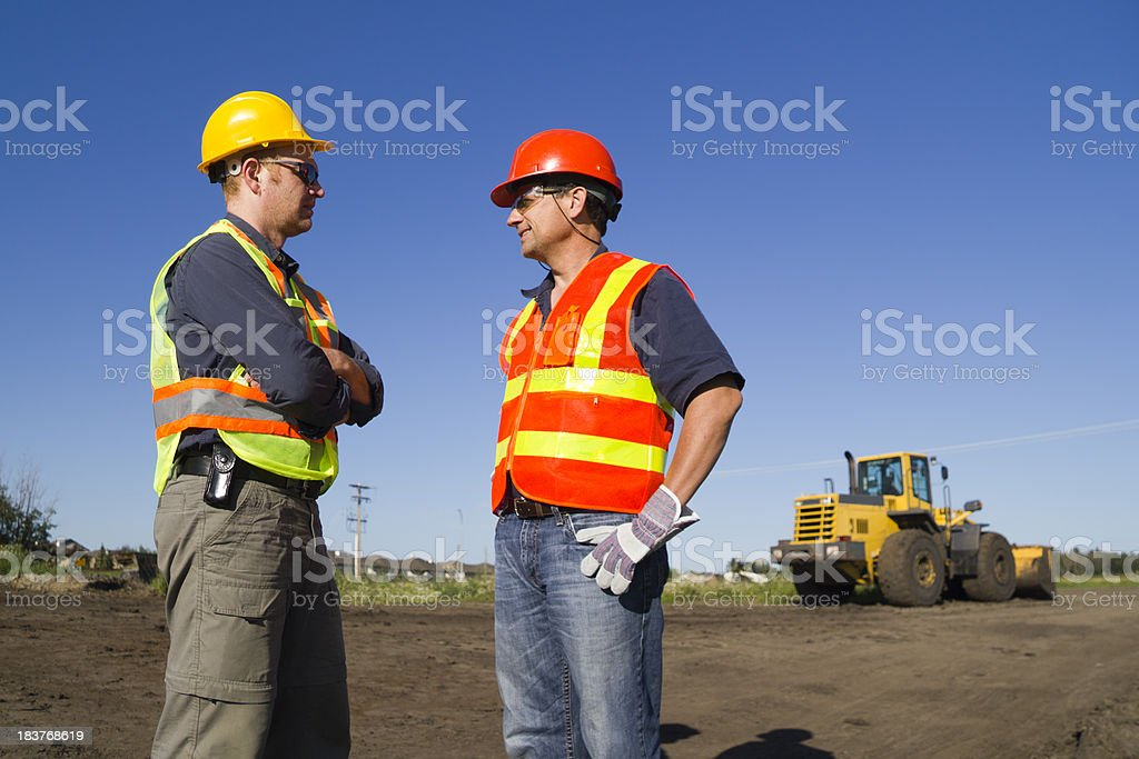Construction Conversation royalty-free stock photo