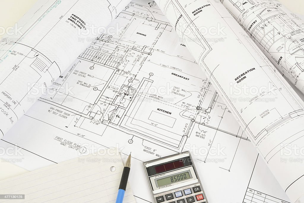 construction cost estimate royalty-free stock photo
