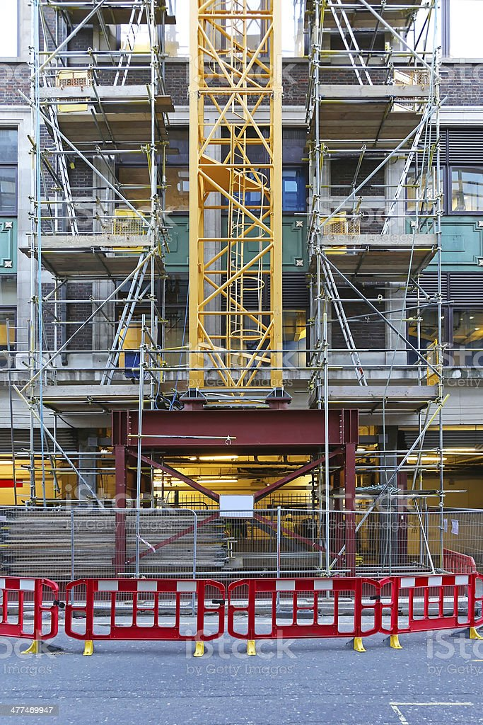 Construction crane base royalty-free stock photo