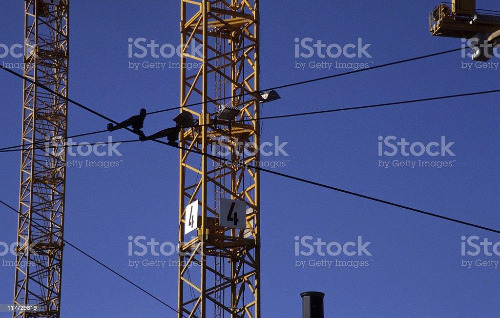 Construction crane, close-up, detail, Germany, Berlin royalty-free stock photo