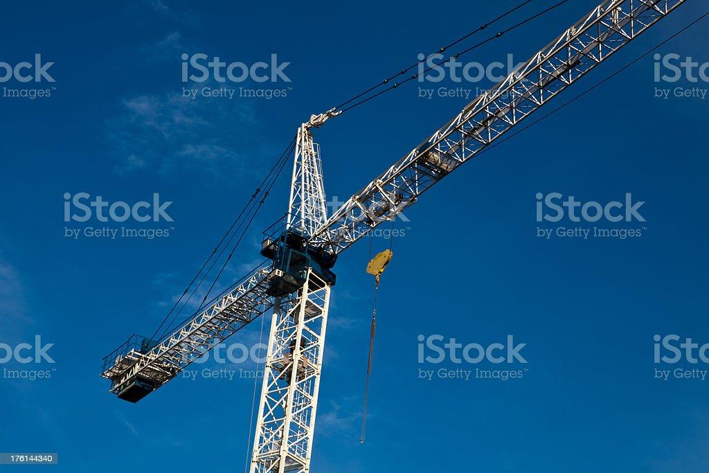 construction crane on site of Million dollar condo royalty-free stock photo