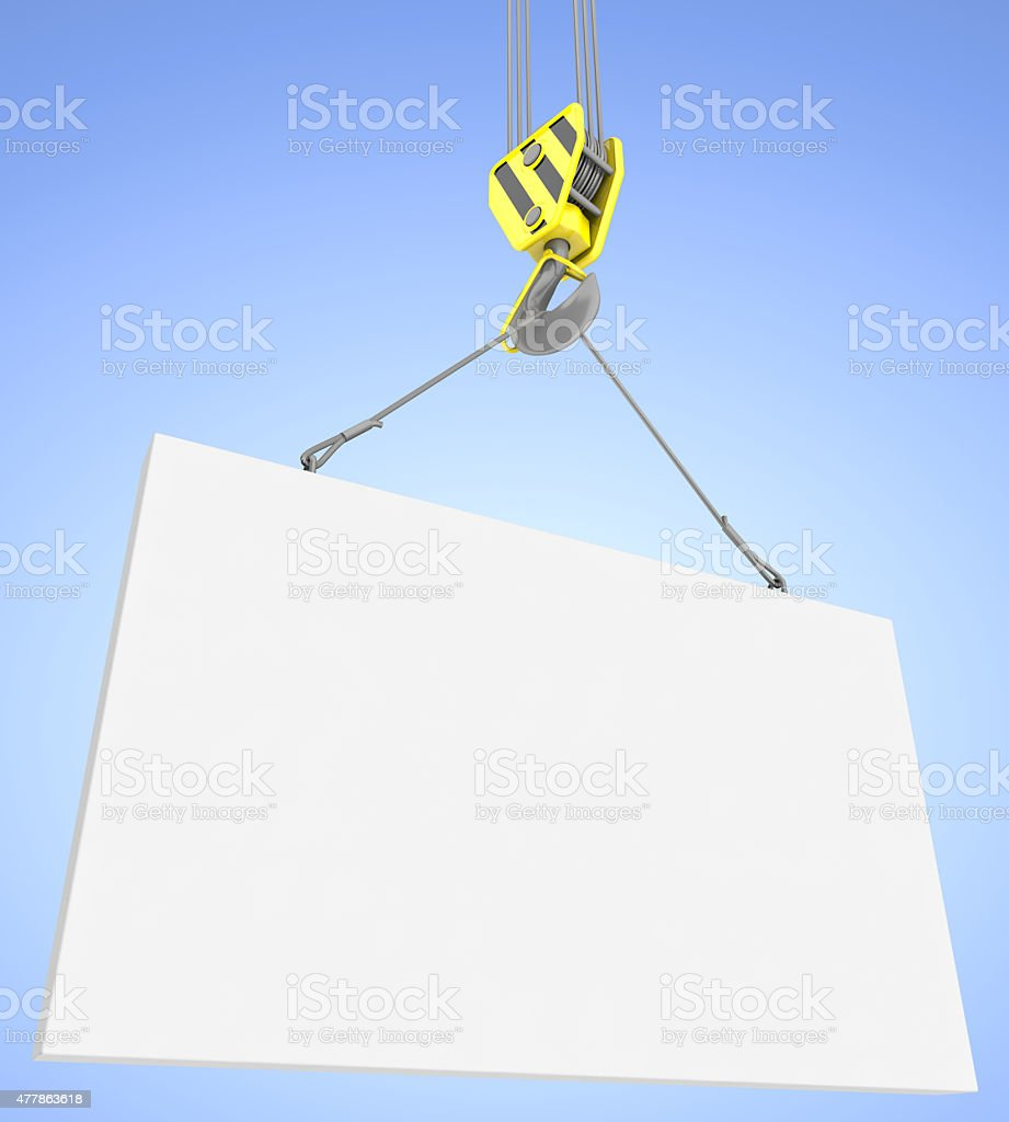 Construction crane on the background of blue sky. royalty-free stock photo