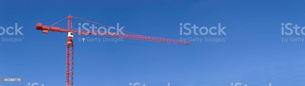 Construction crane panorama stock photo