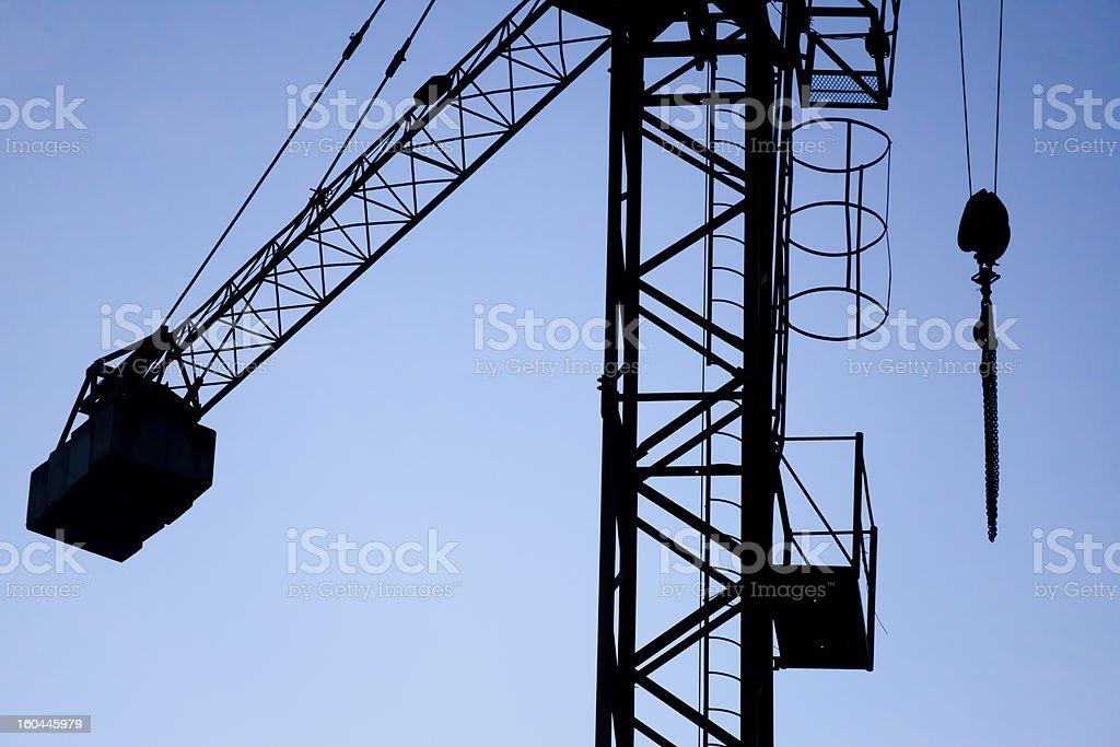 Construction crane royalty-free stock photo