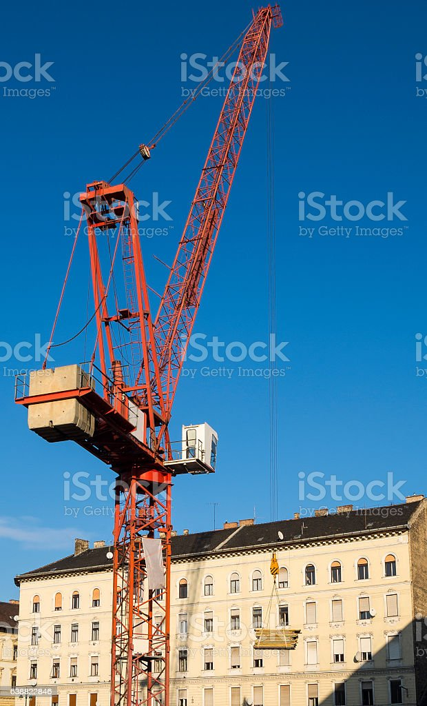 Construction crane. stock photo