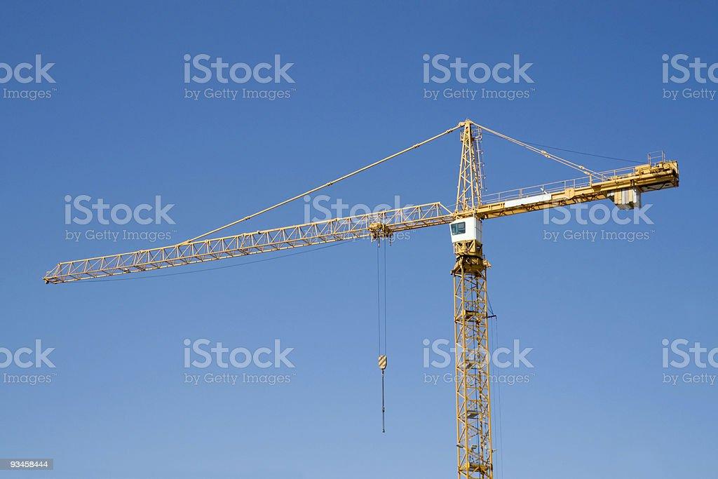 Construction crane stock photo