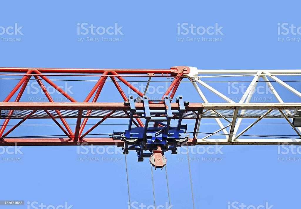 Construction crane winch royalty-free stock photo