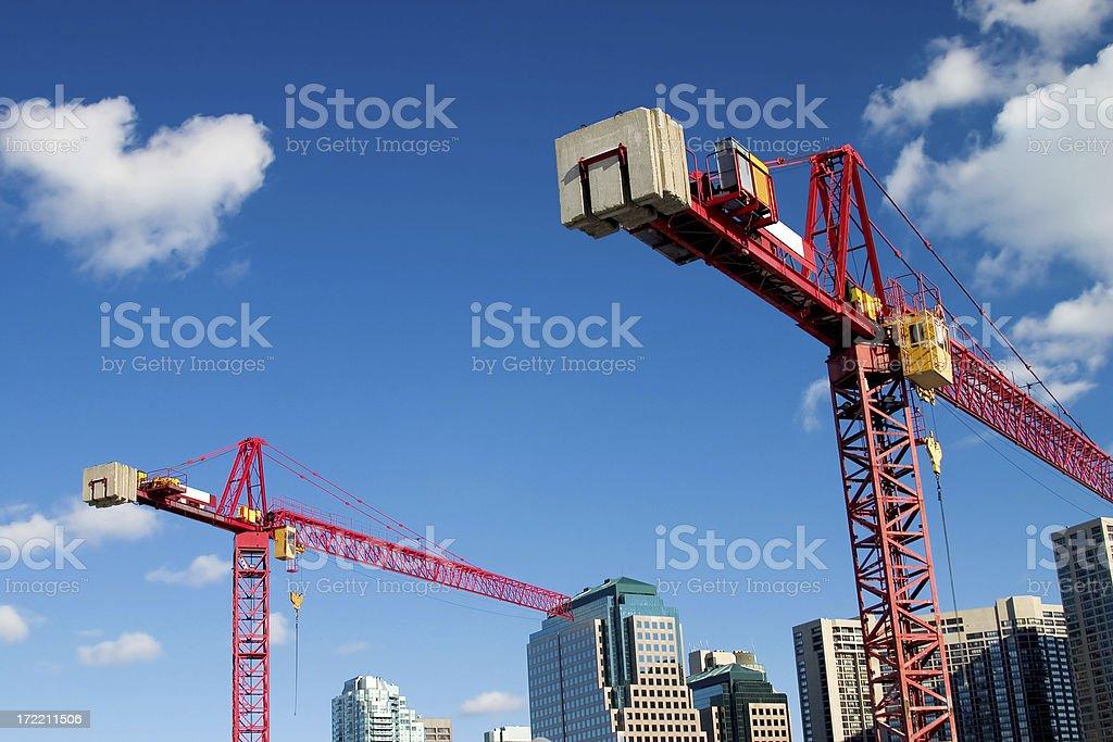 Construction Cranes royalty-free stock photo