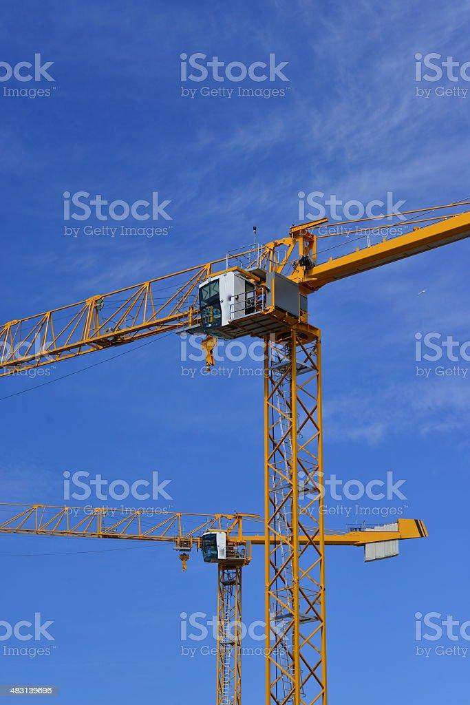 Construction cranes, U.K. stock photo