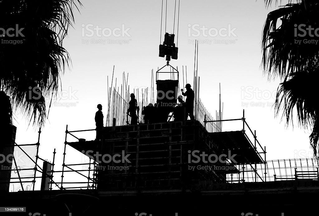 Construction crew royalty-free stock photo