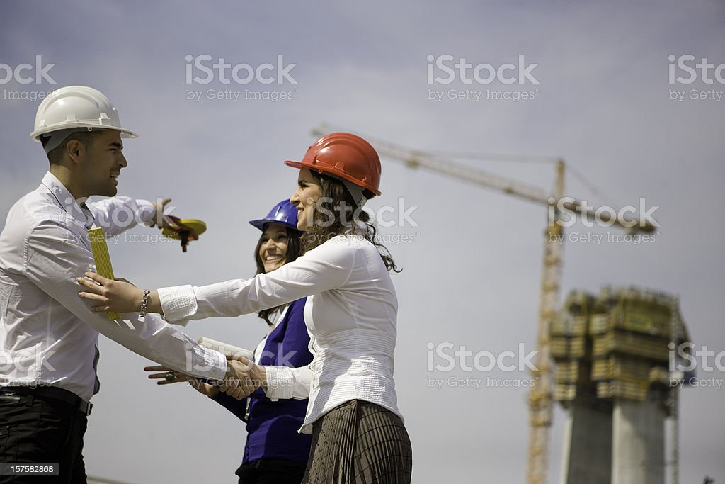 Construction deal royalty-free stock photo