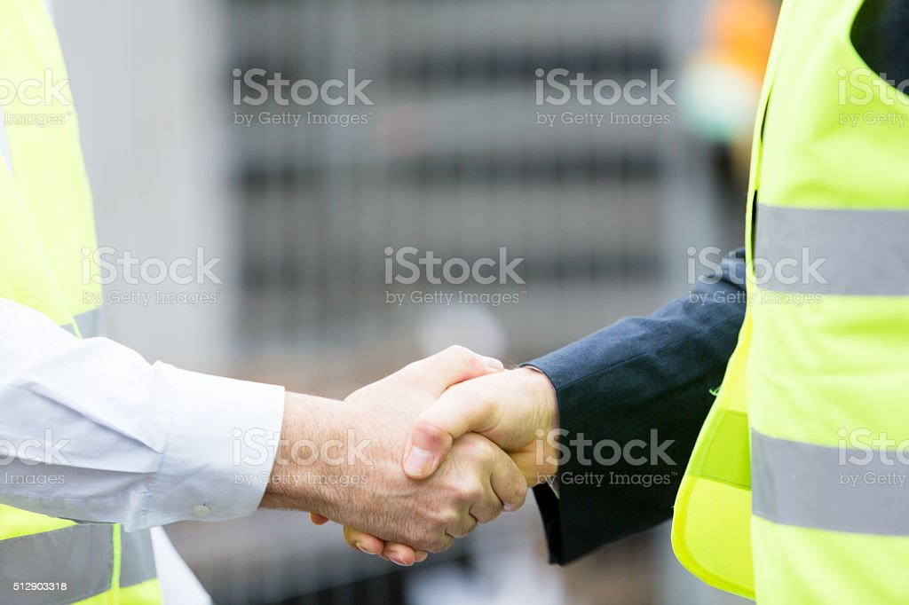 Construction deal stock photo