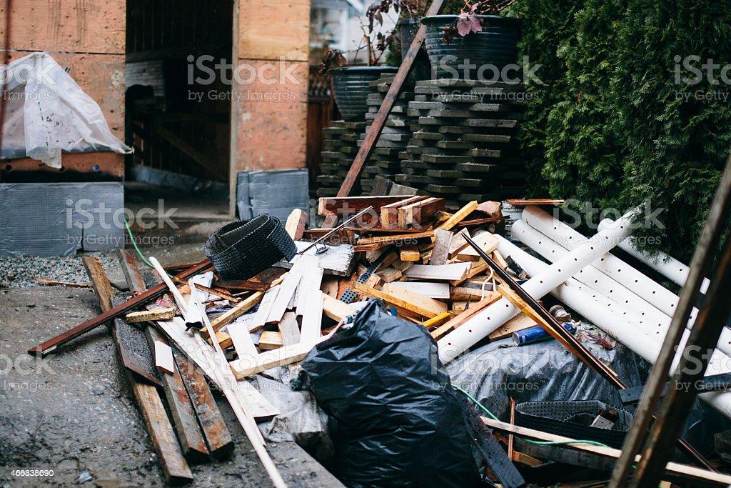 construction debris stock photo