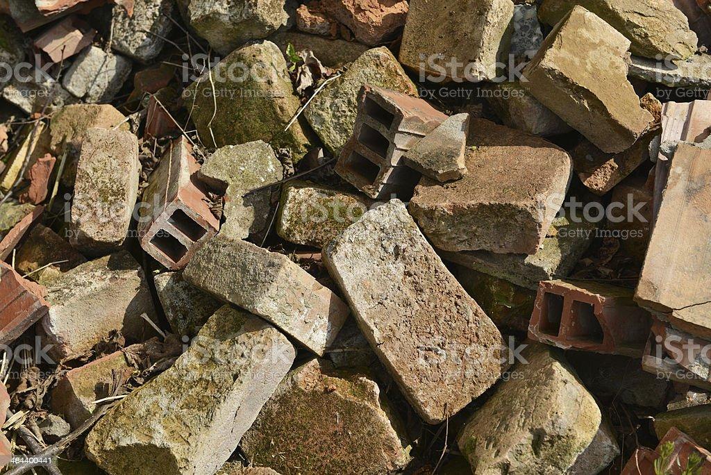 construction debris royalty-free stock photo