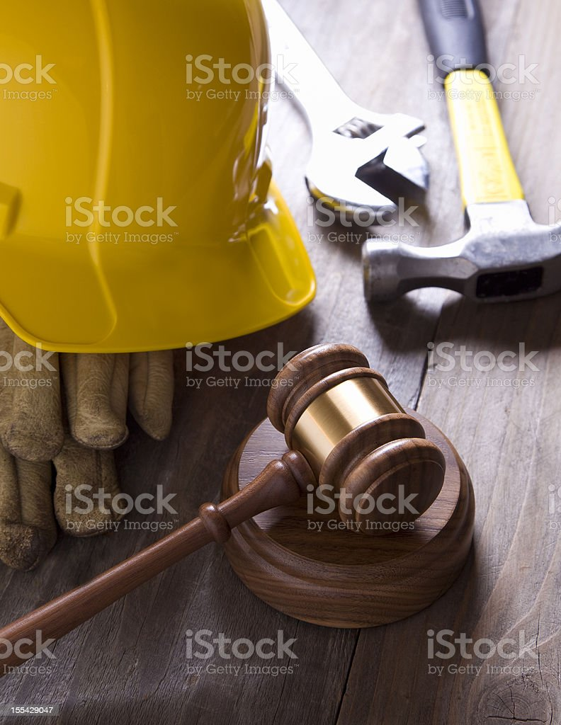 Construction Defects. Worker's Rights. stock photo
