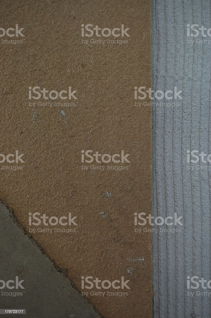 Construction Detail of Lime Hemp Wall royalty-free stock photo