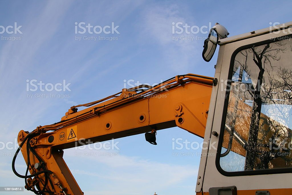 Construction Digger stock photo