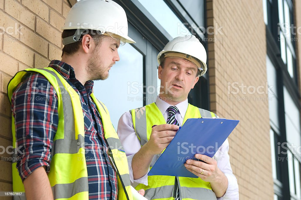 construction discussion royalty-free stock photo