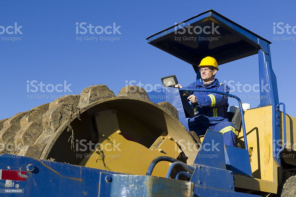 Construction Driver royalty-free stock photo