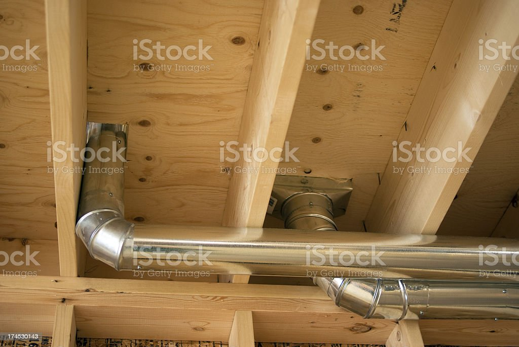Construction Ductwork royalty-free stock photo